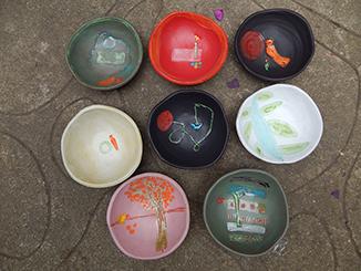 Assortment of ceramic bowls