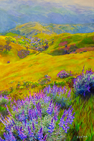 Painting by Kerima Swain_Spring on Mt Diablo
