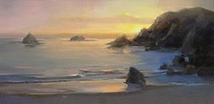 Last light in Limekiln Bay by Carol Tarzier