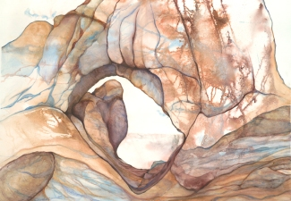 Arches, a watercolor by Karen Kramer