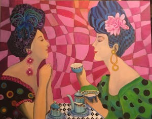 2 Women having tea