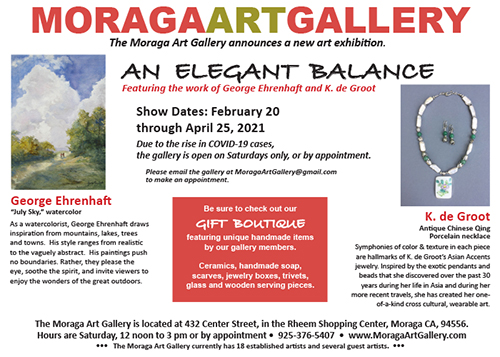 Moraga Art Gallery postca